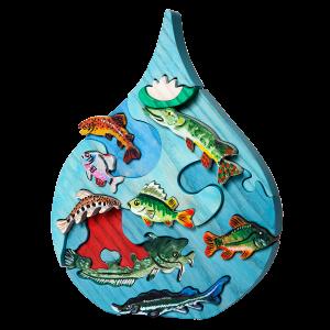 Druppel met vissen Donau - Fauna speelgoed