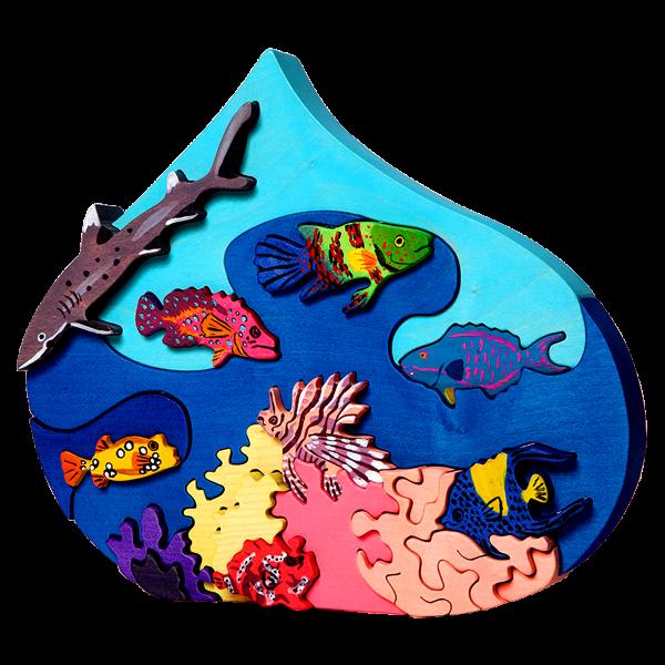 Druppel met vissen Rode zee - Fauna speelgoed