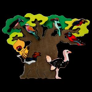 Boom met vogels Afrika - Fauna speelgoed