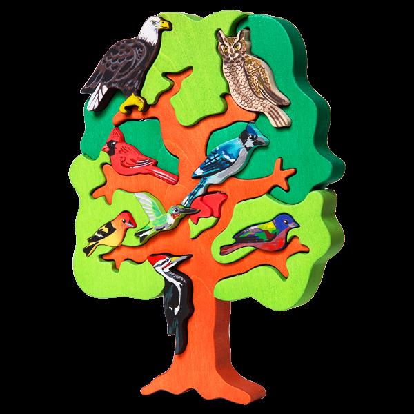 Boom met vogels Noord Amerika - Fauna speelgoed