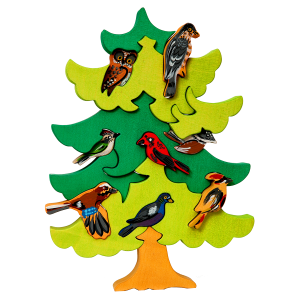 Boom met vogels Noord Europa - Fauna speelgoed
