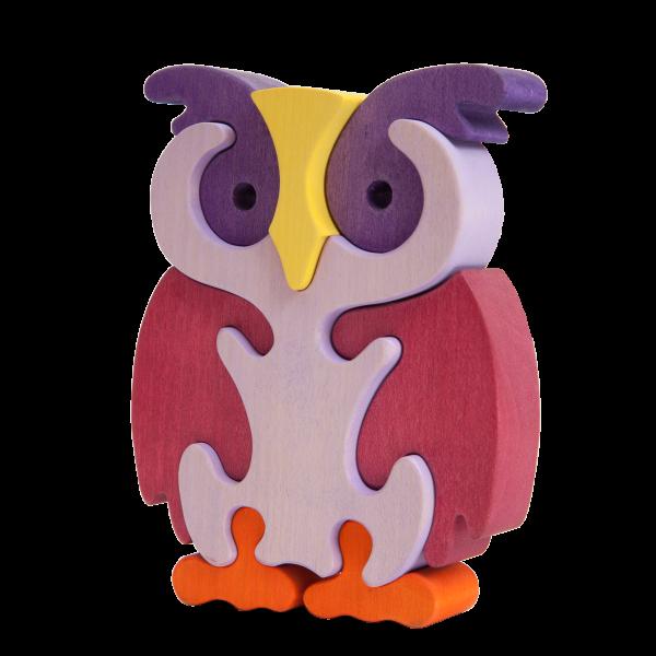 Uil Violet groot - Fauna speelgoed