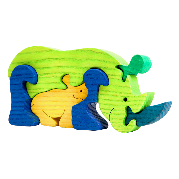 Neushoornfamilie - Fauna speelgoed