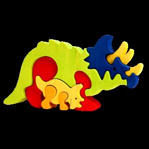 Dino Triceratopsfamilie - Fauna speelgoed