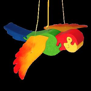 Mobiel papegaai - Fauna speelgoed