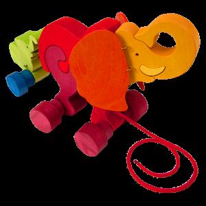 Trek speelgoed olifant - Fauna speelgoed
