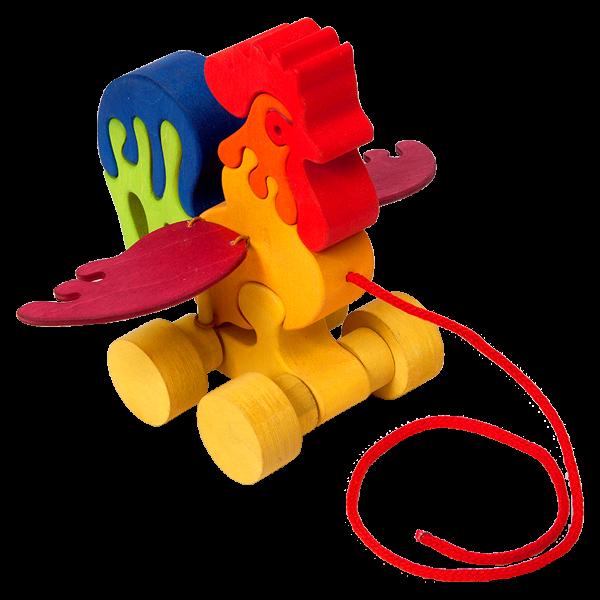 Trek speelgoed haan - Fauna speelgoed