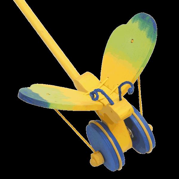 Duw speelgoed vlinder blauw - Fauna speelgoed